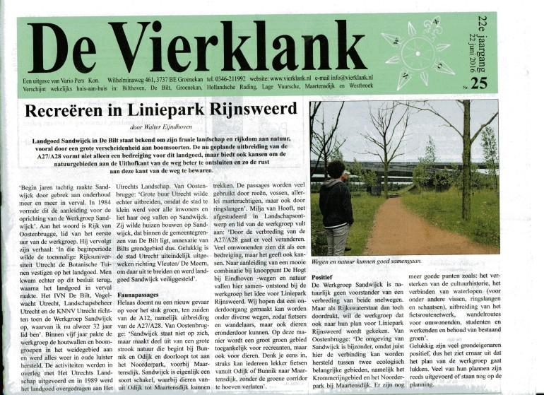 Vierklank interview Liniepark Rijk en Milja