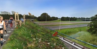 Varkensbocht viaduct idee voor herinrichting voor recreant en bijenlint.